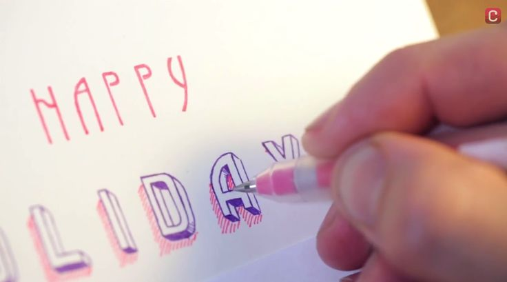 """Illustrator Sam O'Leary walks viewers through hand-lettering a """"Happy Holidays"""" message for your friends and family."""