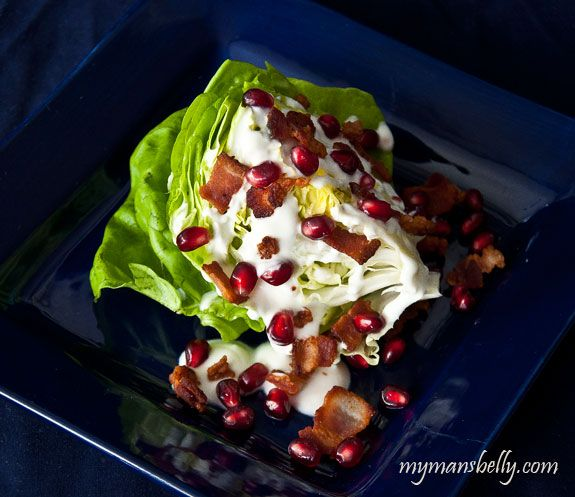 Buttercrunch Lettuce Wedge Salad with Goat Cheese Dressing #salad #dinner