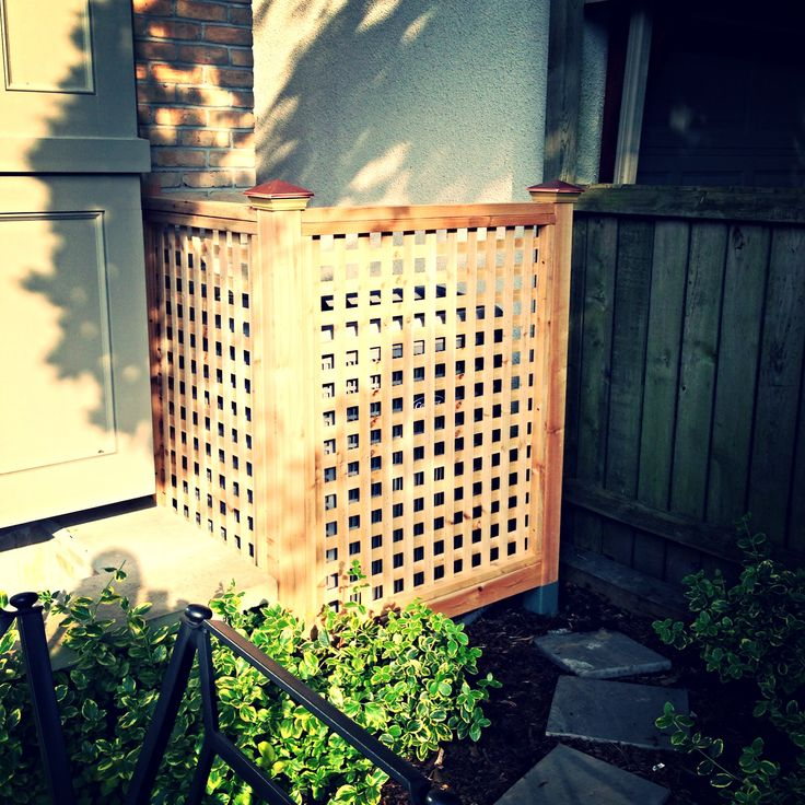 Cedar Lattice Air Conditioner Screen Covers For Air