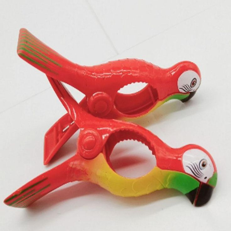 1Pcs Parrot Bird Plastic Beach Slipper Towel Clips Large Sun Bed Lounger Holder Pool Clothes Peg Quilt clip Sock clips. Yesterday's price: US $4.97 (4.43 EUR). Today's price (January 21, 2019): US $2.93 (2.61 EUR). Discount: 41%. #Home #Storage #Organization #parrot #beach