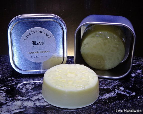 All Natural Lemon Scented Beeswax Lotion Bar by LoveHandyWork