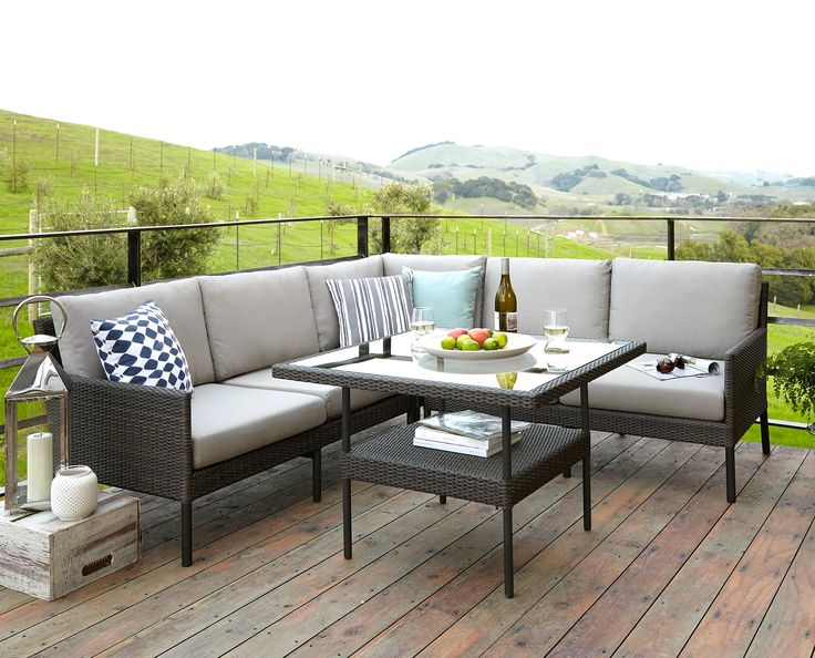 Scandinavian Designs - When it comes to chic living rooms, think outside the house! The Felix sectional offers the perfect foundation piece to bring enjoyable comfort to your outdoor space. Durable, all-weather resin wicker surrounds powder-coated aluminum frames to last for years. Thick cushions are covered in all-weather fabric for year-round luxury.