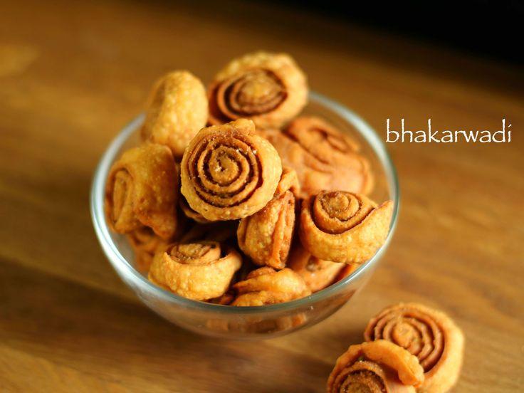 bhakarwadi recipe, how to make maharashtrian bhakarwadi with step by step photo/video recipe. bhakrwadi is a popular evening snack enjoyed with masala chai