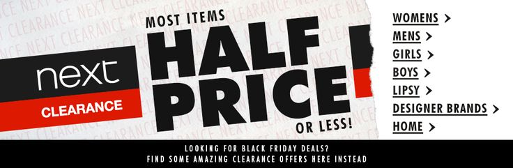 Get fantastic offers on a variety of Next clothing and homeware products online