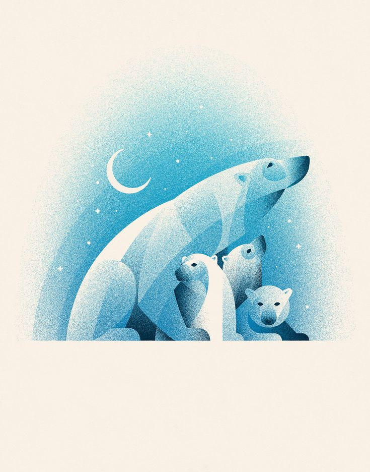 Polar Bears Art Print Benefiting NRDC