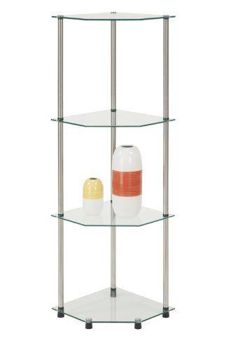25 best ideas about glass corner shelves on pinterest. Black Bedroom Furniture Sets. Home Design Ideas