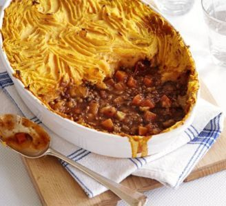 The ultimate makeover: Shepherd's pie. Swap green lentils for red and use quark instead of creme fraishe to make more SW friendly.