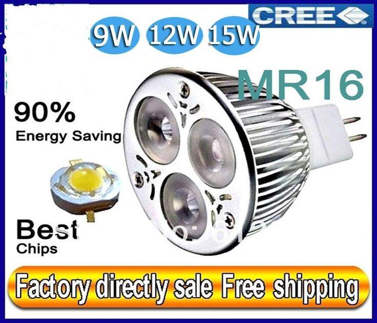 Дешевое Горячая распродажа 100 шт./лот непосредственно кри лампы из светодиодов лампы MR16 9 Вт 12 Вт 15 Вт AC / 12 В затемнения из светодиодов лампы свет прожектор, Купить Качество Светодиодные лампы и трубки непосредственно из китайских фирмах-поставщиках:             MR16 базы.         Низкий отопление для снижения потребления электроэнергии кондиционер