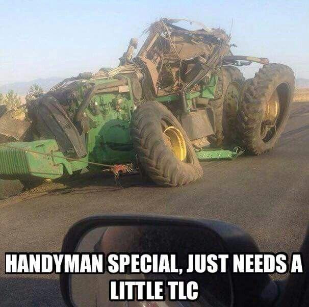 John Deere 8000/8R Series tractor.Lots of TLC & tons of money