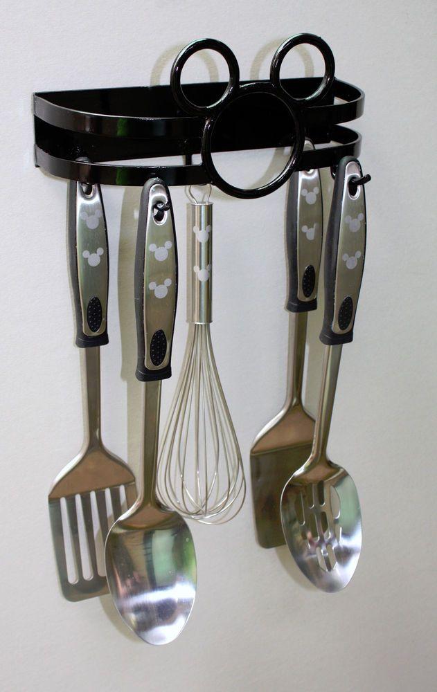 Mickey Mouse Metal Utensil Rack Hanger U0026 Utensil Set ~ Kitchen