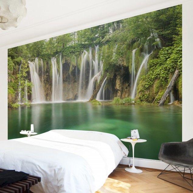 Yli tuhat ideaa Fototapete Wasserfall Pinterestissä Wandbilder - fototapete wald schlafzimmer