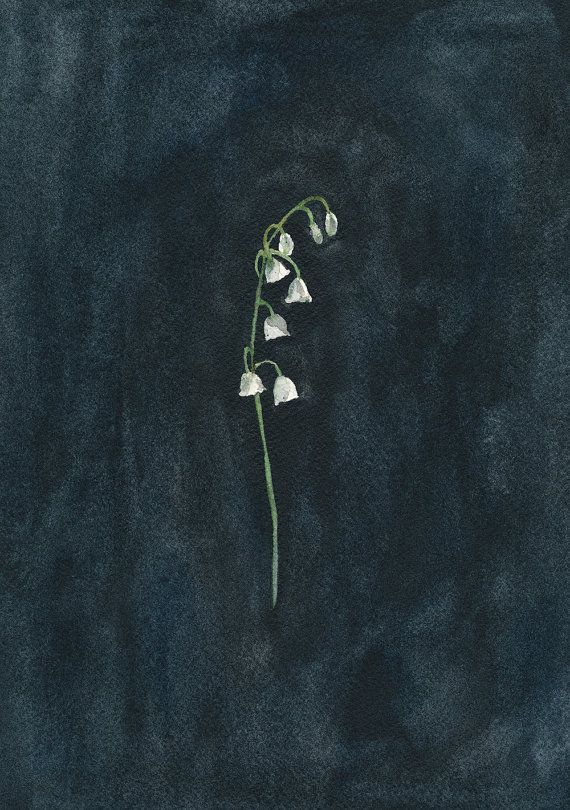 Remember: Lily of the Valley Original Watercolour by reneeanne