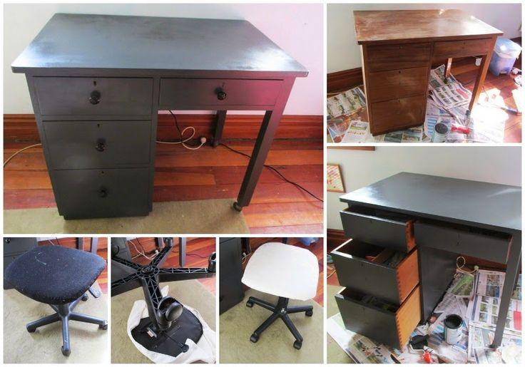 Great Fun etc: Bedroom DIY // Desk upcycle