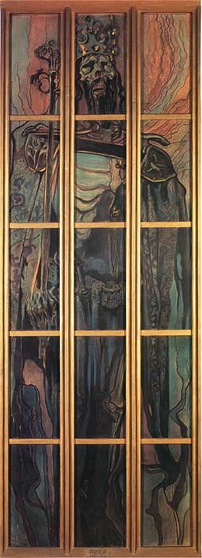 Casimir The Great, stained glass project for Wawel Cathedral, Krakow, 1902