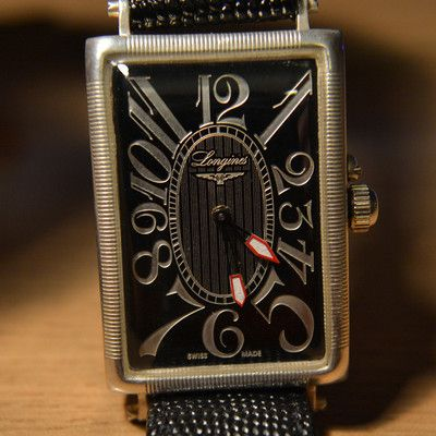 3ce0125b2896 (Mens Art Deco Classic 1907 Longines Factory Vintage Tonneau Rectangular  Watch