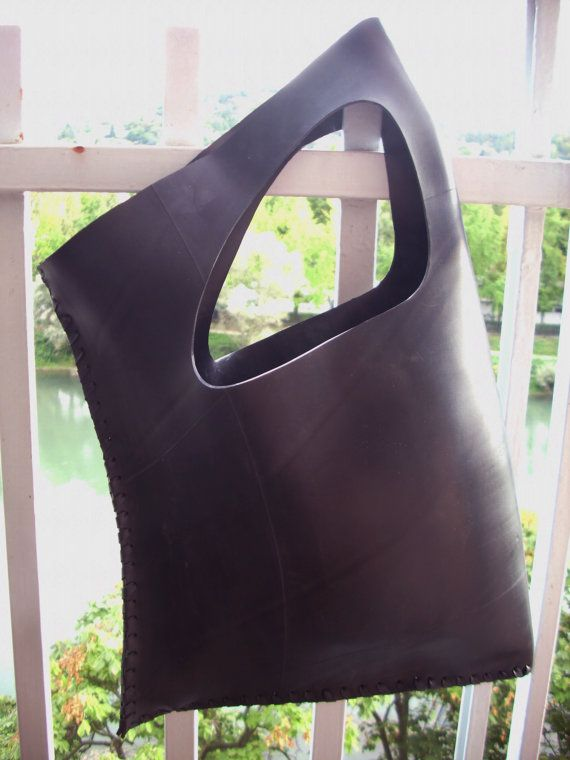 Minimale  Recycled Truck Inner Tube Bag by MorganaCrea on Etsy, €60.00
