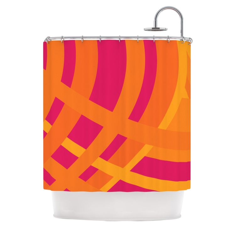 "Fotios Pavlopoulos ""Tangled"" Red Orange Shower Curtain"