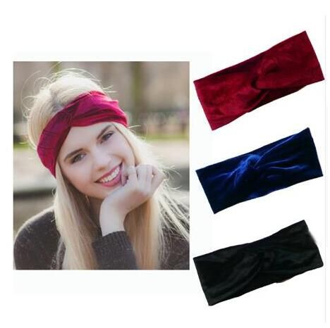 1pcs Velvet Twist Headband Women Earmuffs Earwarmers Noble Scrunchy Hair Band Turban Headband Bandana Bandage On Head For Women