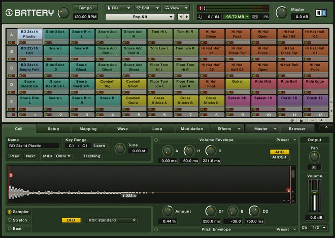 Native Instruments Battery - from The 14 best VST plug-in drum machines in the world today