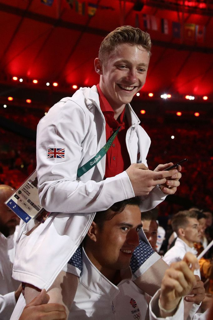 Nile Wilson of Great Britain walks in the 'Heroes of the Games' segment during the Closing Ceremony on Day 16 of the Rio 2016 Olympic Games at Maracana Stadium on August 21, 2016 in Rio de Janeiro, Brazil.