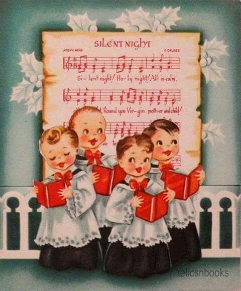 Vintage Christmas choir silent night image