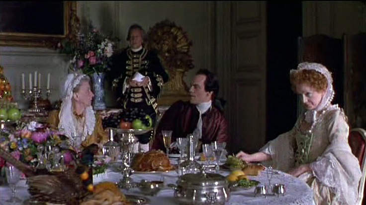 18th century dining - a scene from DANGEROUS LIAISONS