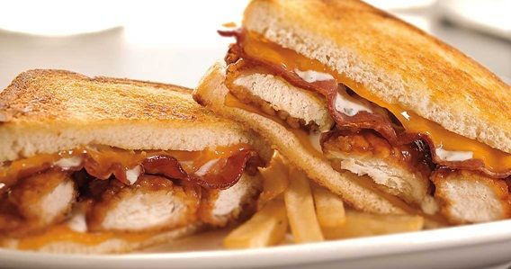 ... -smoked bacon and Ranch dressing on freshly grilled sourdough bread