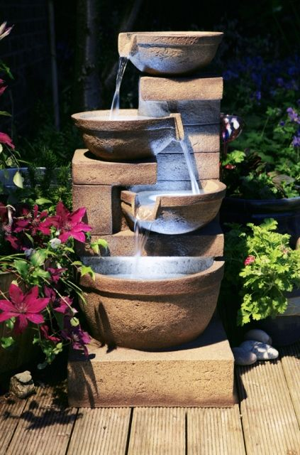 1000 Images About Garden Water Fountains On Pinterest