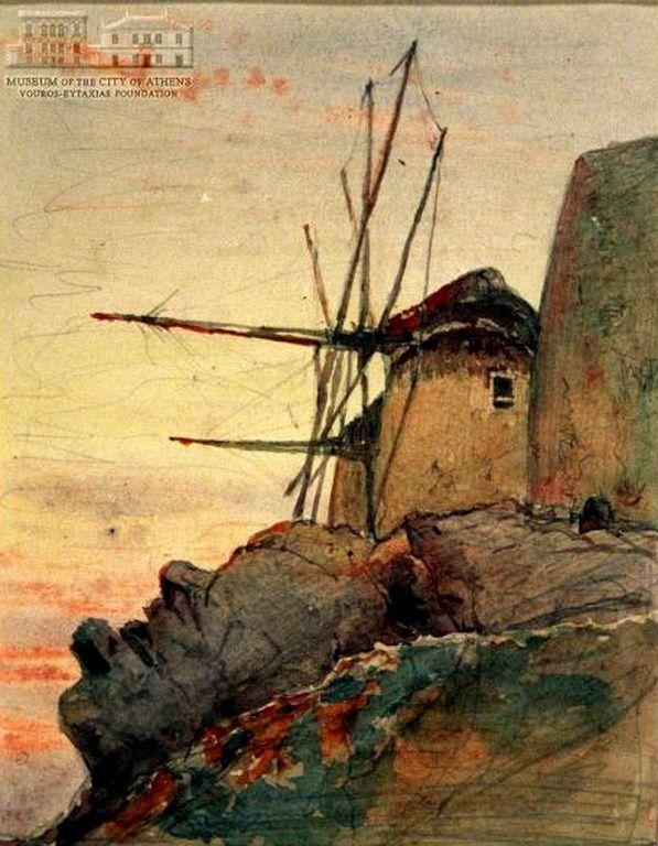 .:. Ροδοκανάκης Παύλος – Pavlos Rodokanakis [1891-1958] -Mills, Μύλοι,π.1919