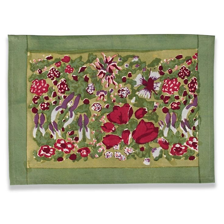 Jardine Red-Green Placemat by Couleur Nature