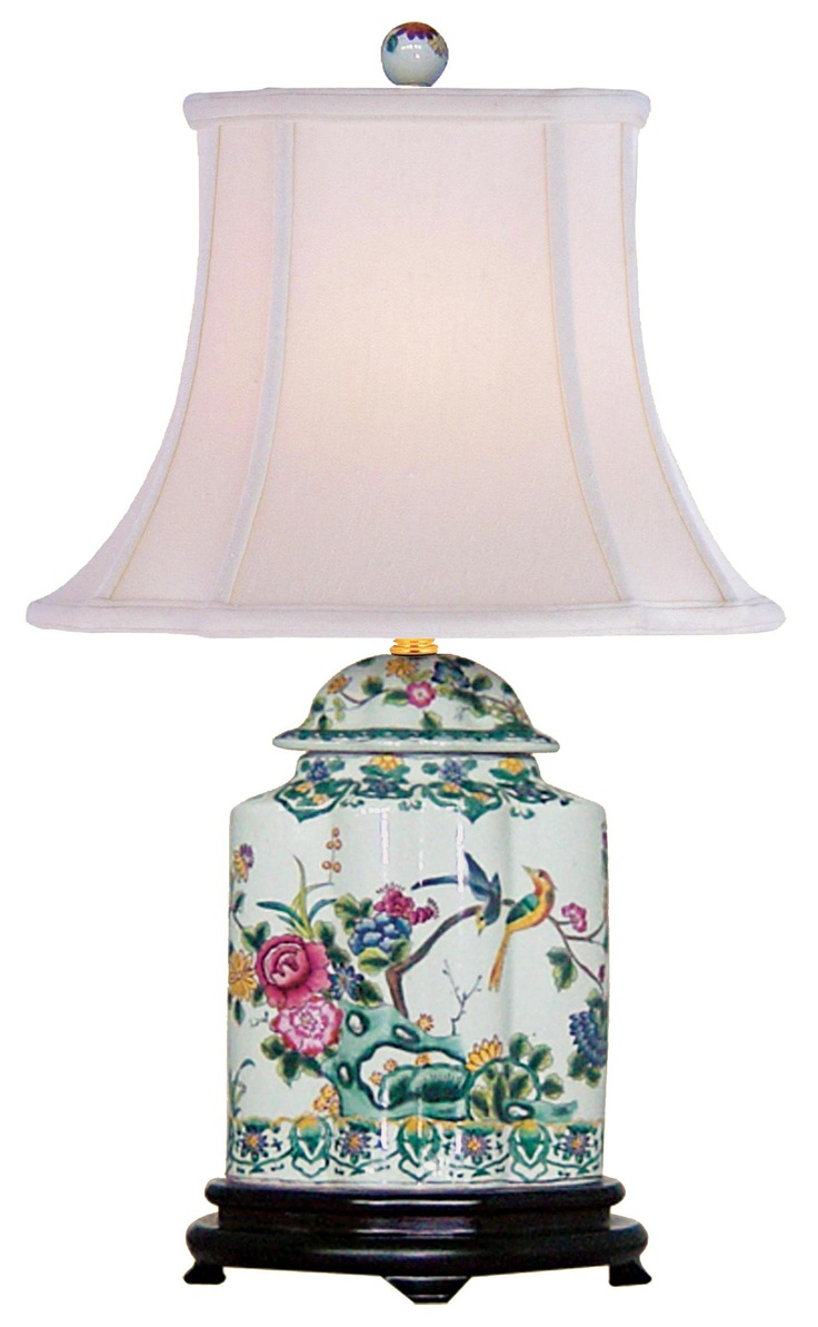 113 best ideas for lamps images on pinterest table lamps green floral porcelain scalloped tea jar table lamp style j4927 geotapseo Gallery