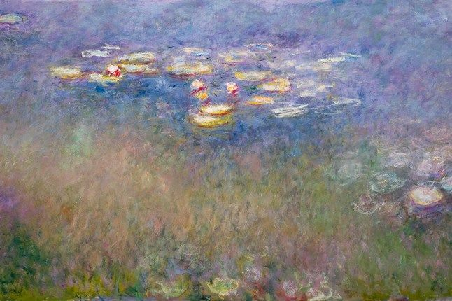 Painting the Modern Garden: Monet to Matisse at the Royal Academy - Art News (houseandgarden.co.uk)  Claude Monet, Water Lilies, 1916-26 - the centre panel of the Agapanthus Triptych