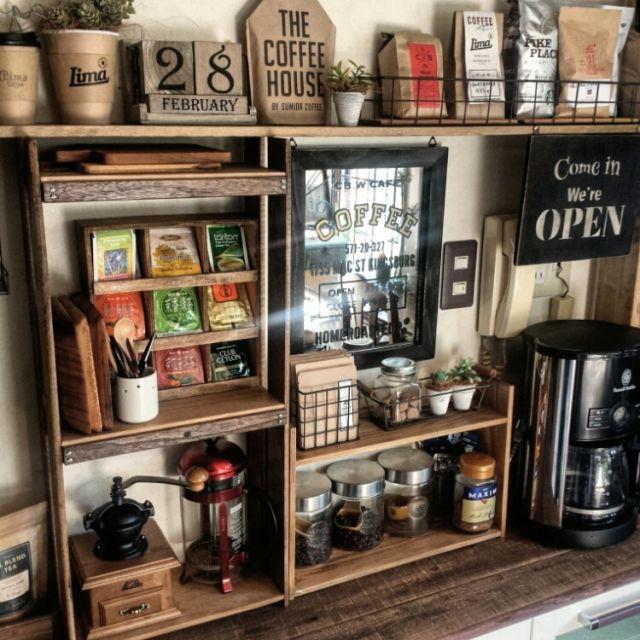 すのこリメイク/Russell Hobbs/コーヒー/キッチン改造中/食器棚リメイク…などのインテリア実例 - 2016-02-28 14:36:47 | RoomClip(ルームクリップ)