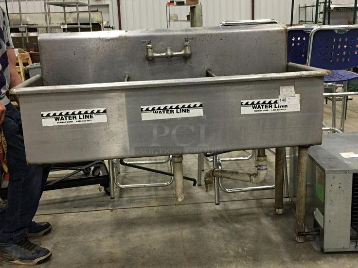 Stainless Steel 3 Compartment Sink ... Price, Pics U0026 Details At. Used  Restaurant ...