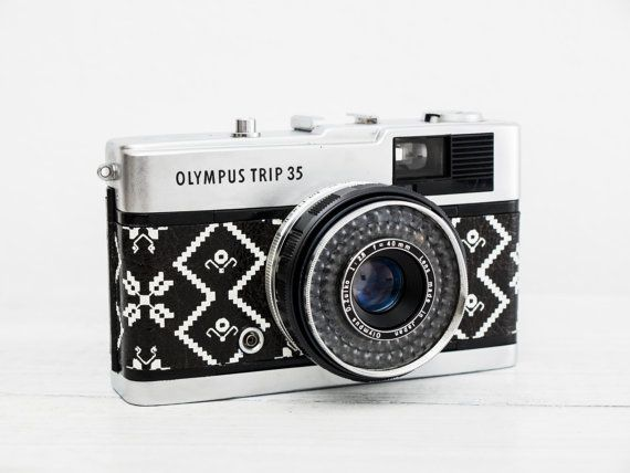 Olympus Trip 35 + f/2.8, Chrome Button! New Lightseals! functional vintage 35mm…