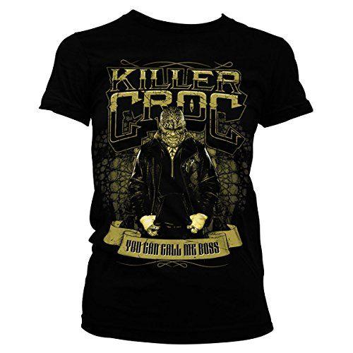 Officially Licensed Merchandise Suicide Squad Killer Croc Girly Tee (Black), Medium #camiseta #starwars #marvel #gift