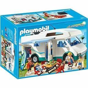 PLAYMOBIL - 310553 - 6671 SUMMER FUN - FAMILLE AVEC CAMPING - CAR