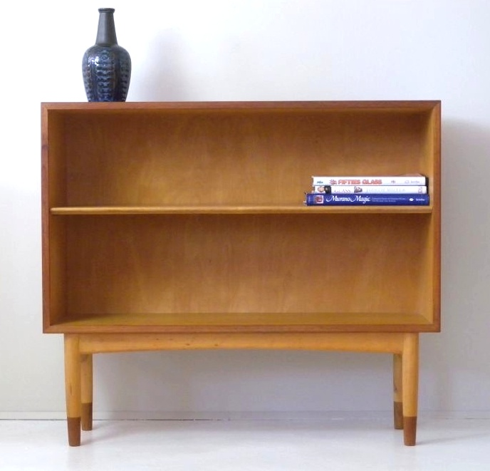 Teak and beech bookcase by Borge Mogensen for Siborg Mbler, 1950s