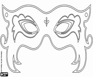 Beautiful Carnival mask coloring page