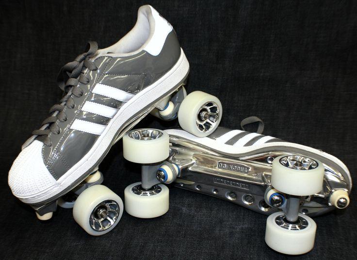 Adidas Superstar shelltoe roller skates. By David P. Rogerson. http://davidrogerson.com/?p=287