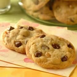 Original Nestle® Toll House® Chocolate Chip Cookies  White chocolate chips in place of nuts, triple vanilla extract, and add a tsp of cinnamon