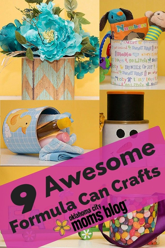 Got empty formula cans? Take those used baby items and repurpose them into works of art with these easy DIY craft ideas.