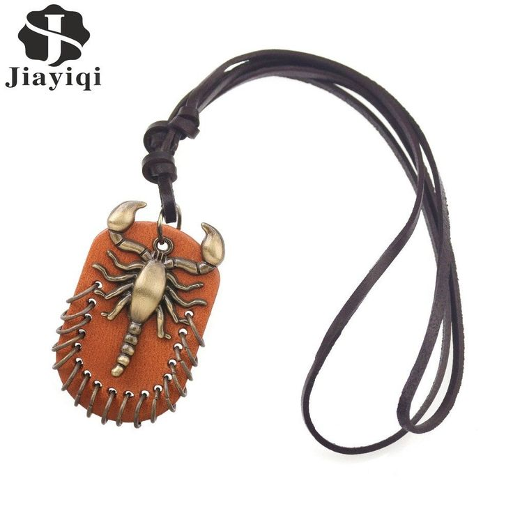 Vintage Steampunk Leather Necklace Scorpion Collares Necklaces & Pendants Fashion Statement Necklace for Women Men Jewelry #necklace #steampunk