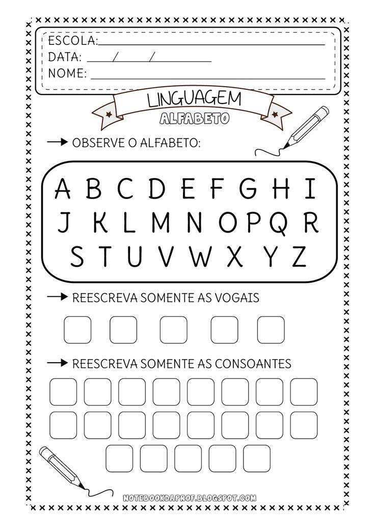 Suficiente 37 melhores imagens de alfabeto no Pinterest | Atividades infantis  JF27