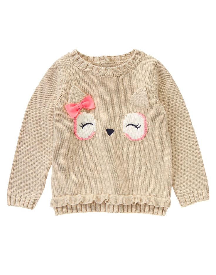 12m - Owl Face Sweater at Gymboree
