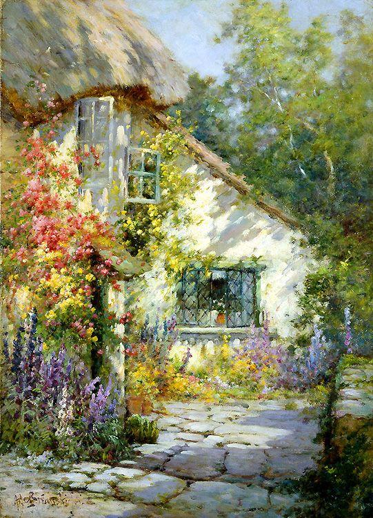 A Home in Devon by Alfred de Breanski Jr.