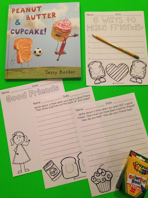 Peanut Butter & Cupcake is the perfect book for teaching students about friendship and being a good friend.  Blog post includes ANCHOR CHART and FREE student printables!