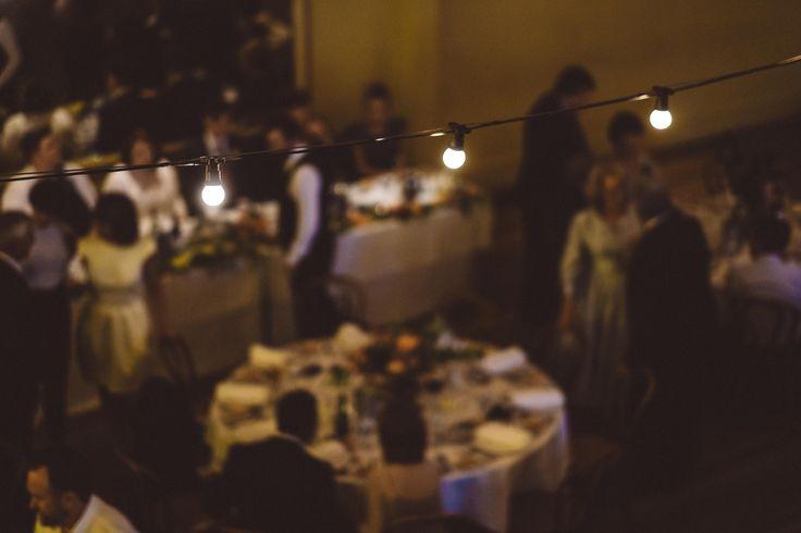 Light garland #wedding #melbourne #reception #moody #lights
