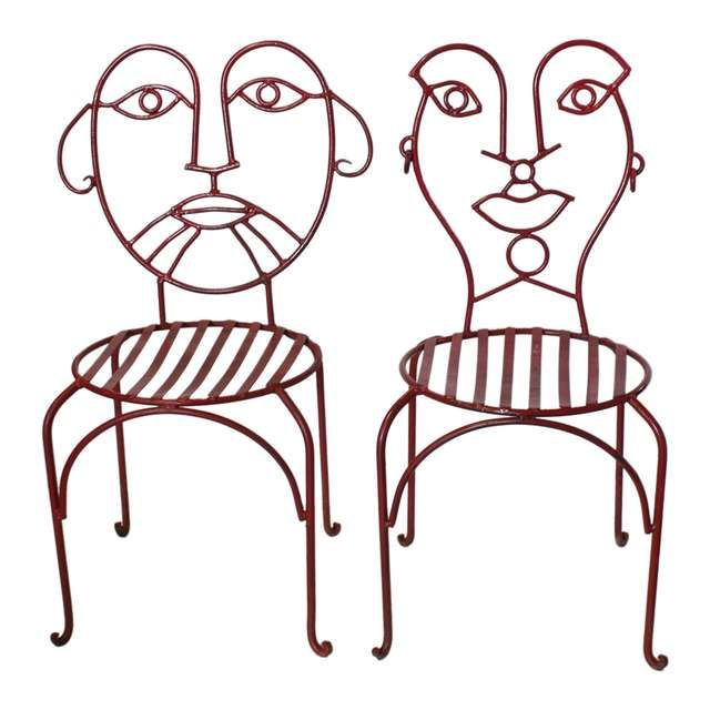 Midcentury Accent Wrought Iron Chairs Wrought Iron Chairs Iron