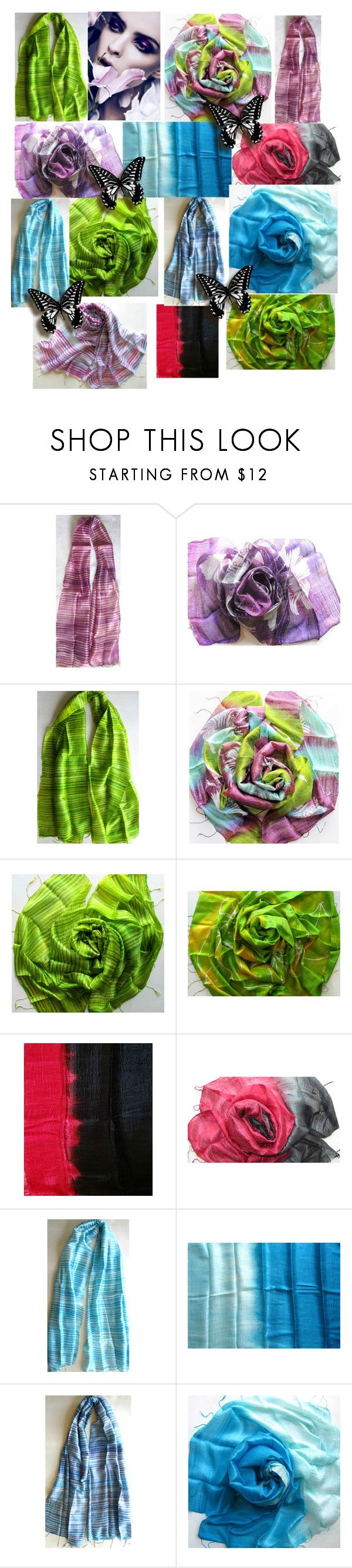 PlanetEarthHandmade by anna-recycle on Polyvore featuring Cadeau, wedding, silk, handmade and handwoven